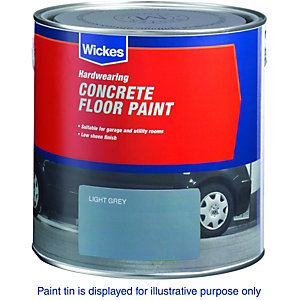 Wickes Concrete Floor Paint Light Grey 2.5L
