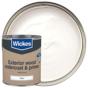 Wickes Exterior Primer Undercoat Paint White 750ml