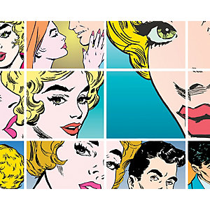 ohpopsi Pop Art Wall Mural Multi
