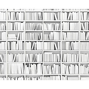 ohpopsi Library Wall Mural Black & White