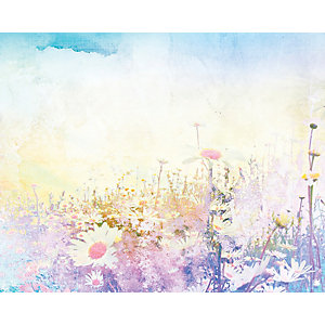 ohpopsi Hazy Meadows Wall Mural Multi