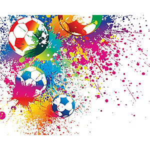ohpopsi Football Splash Wall Mural Multi
