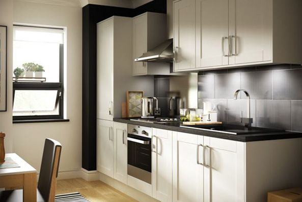 Cream And Black Kitchens Designs