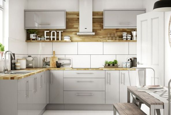 Wickes kitchens for Long kitchen wall units
