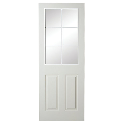 wickes 6 light internal moulded door white glazed primed. Black Bedroom Furniture Sets. Home Design Ideas