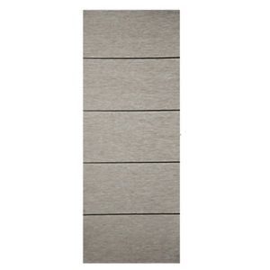 Wickes Milan 4 Line Horizontal Light Grey Real Wood Veneer Door 1981 x 762mm