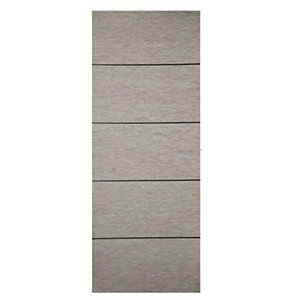 Wickes Milan 4 Line Horizontal Light Grey Real Wood Veneer Door 1981 x 686mm