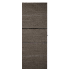 Wickes Milan 4 Line Horizontal Charcoal Grey Real Wood Veneer Door 1981 x 686mm