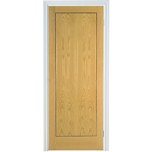 Int Flush Oak Veneer 1 Panel Door 1981mm x 610mm x 35mm