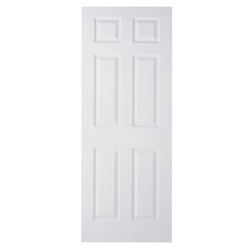 wickes woburn internal moulded door white primed grained 6. Black Bedroom Furniture Sets. Home Design Ideas