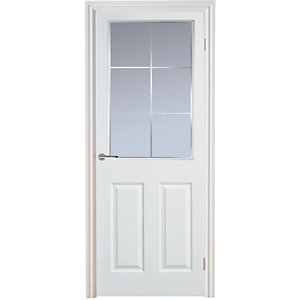 Internal Moulded 6Panel Smooth Hollow Core Door Glz Whe 6L Clr 1981mm x 838mm x 35mm