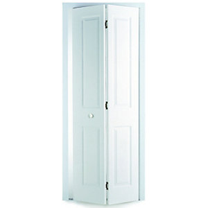 Internal Moulded 4Panel Smooth Hollow Core Door Bi-fold 1981mm x 686mm x 36mm
