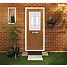 Wickes Avon Composite Door Oak 2 Panel 2100 x 920mm Left Opening