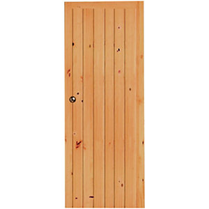 Wickes Keswick Internal Softwood Door Knotty Pine Ledged & Braced 1981x610mm