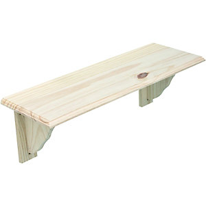 Wickes Pine Shelf Kit 16x190x585mm