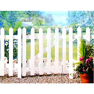 Wickes Palisade Pointed Top Timber Gate Kit 890x865mm