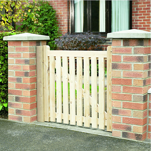Wickes softwood open slatted timber gate kit mm
