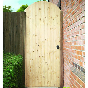 Wickes Softwood Ledged & Braced Arched Top Timber Gate Kit 1981x988mm