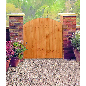 Wickes Softwood Arched Top Timber Gate 895x915mm