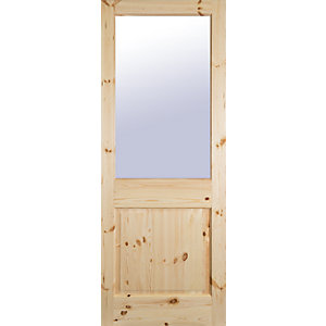 Pine 2XG Double Glazed Door 1981x838x44