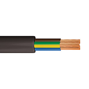 Time 0.75mm2 3 Core Round Flexible Cable Black 3183Y 10M