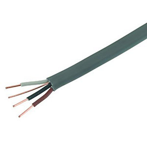 Wickes 3 Core and Earth Cable 1.5mm x 16.5m Grey