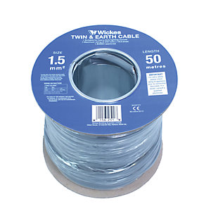 Wickes Twin and Earth Cable 1.5mm x 50m 6242YH