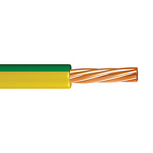 Time 1.5mm2 Single Core Conduit Cable Green/Yellow 6491B 100m
