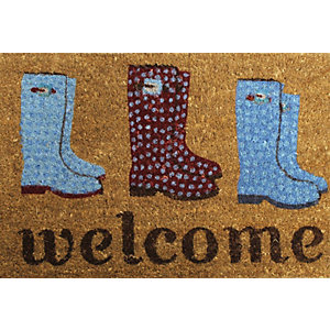 Primeur PVC Coir Welcome Wellies Doormat