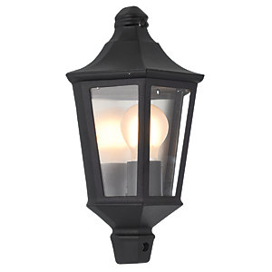 Wickes 60W Naples Half Lantern Black