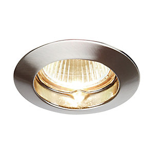 Classic Fixed Downlight Satin Nickel
