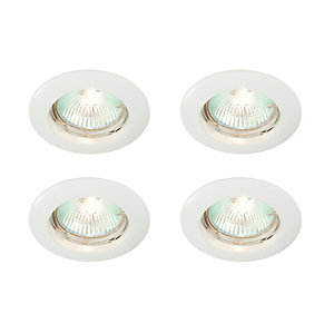 Saxby Classic Fixed Downlight White 4 Pack