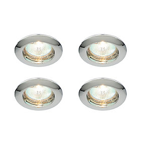 Saxby Classic Fixed Downlight Chrome 4 Pack