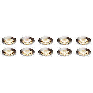 Saxby Classic Fixed Downlight Satin Nickel 10 Pack