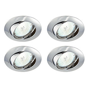 Saxby Classic Tilted Downlight Chrome 4 Pack