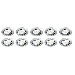 Saxby Classic Tilted Downlight Chrome 10 Pack