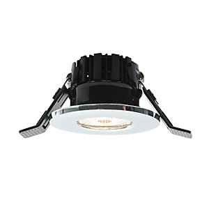Shield LED 400 Integrated LED Downlight Fixed Chrome