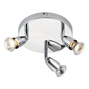 Saxby Amalfi Spotlights Chrome Triple Circular