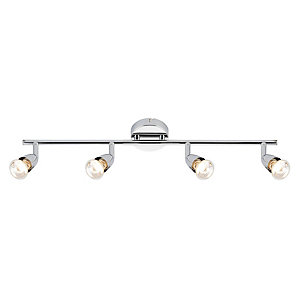 Saxby Amalfi Spotlights Chrome 4 Bar