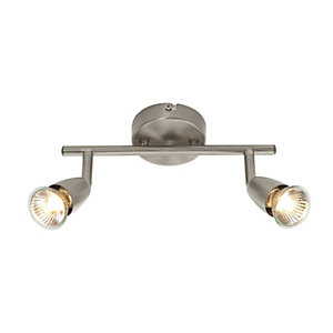 Saxby Amalfi Spotlights Satin Nickel Double