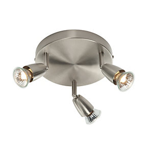 Saxby Amalfi Spotlights Satin Nickel Triple Circular