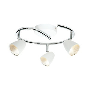 Saxby Evolve Integrated LED Triple Circular White
