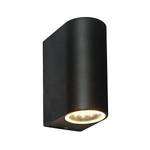 Saxby Doron Integrated LED Black Wall Light