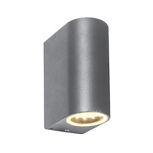 Saxby Doron Integrated LED Grey Wall Light
