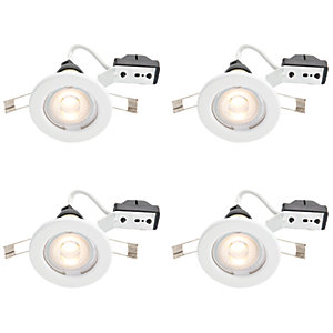Wickes LED Downlights White 4 Pack