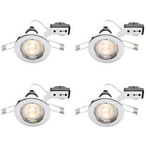 Wickes LED Downlights Chrome Finish 4 Pack