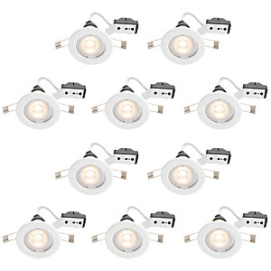 Wickes LED Downlights White 10 Pack