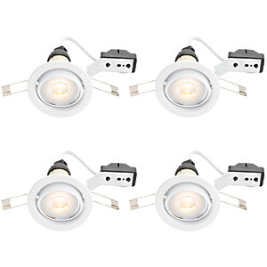 Wickes LED Tilt Downlights White 4 Pack