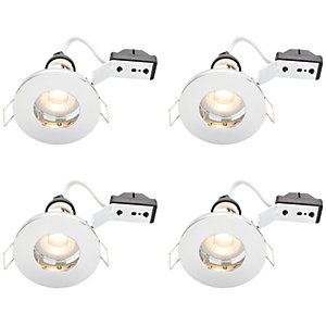Wickes LED IP65 Downlights Chrome Finish 4 Pack