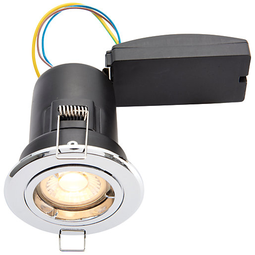 wickes led premium fire rated downlight chrome finish. Black Bedroom Furniture Sets. Home Design Ideas